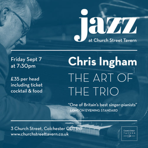 LIVE JAZZ – FRIDAY 7 SEPTEMBER