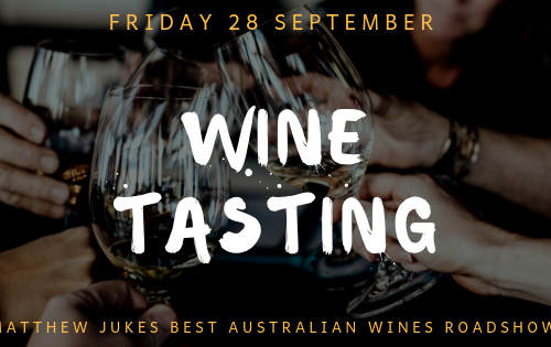WINE TASTING  – FRIDAY 28 SEPTEMBER