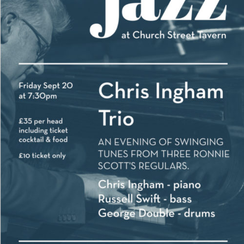 FRIDAY NIGHT JAZZ – 20 SEPTEMBER 2019